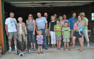 a big portion of my family-Larry is in the blue shirt